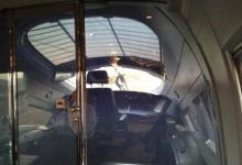 Image of inside front of ICE train going from Frankfurt to Utrecht