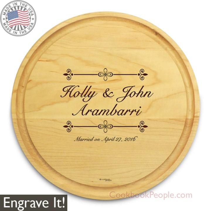 Personalized Circular Cutting Board