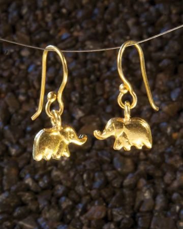 Lucky Elephants in Gold