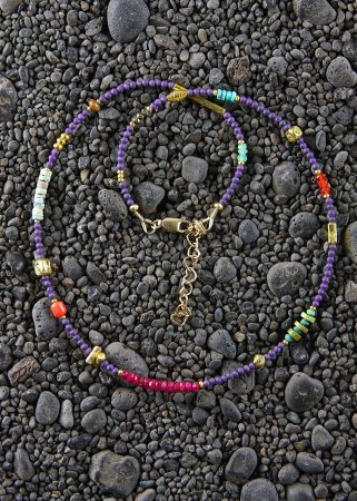 Purple Persephone in Gold w/ Carnelian, Wooly Mammoth