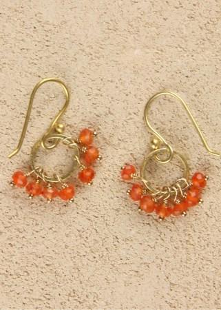 Jill's Earrings in Carnelian Gold