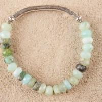 Peruvian Opal Silver Stretch Bracelet