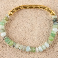Peruvian Opal Gold Stretch Bracelet