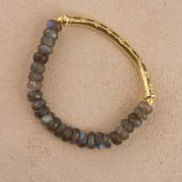 Labradorite Gold Stretch Bracelet