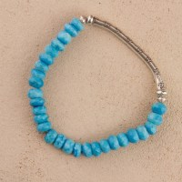 Silver Turquoise Stretch Bracelet