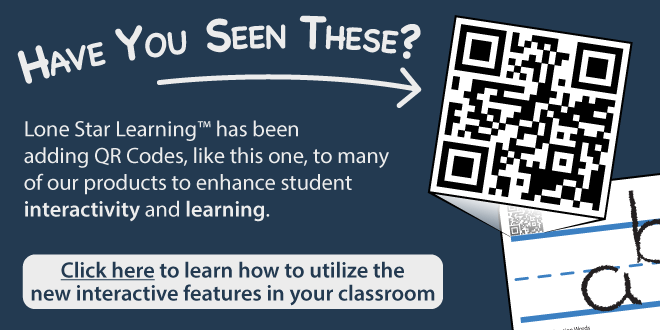 Have you Seen These? Lone Star Learning™ has added QR Codes, like this one, to many of our products to enhance student interactivity and learning.