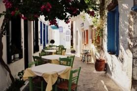 A typical Greek island street alley
