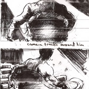 """""""Winner Takes All"""" storyboard by Gabe Flores"""