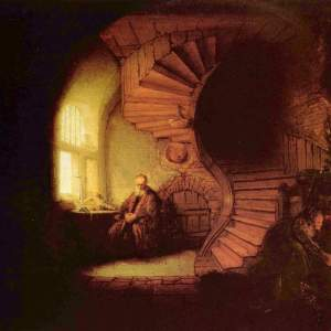 """Philosopher in Meditation"" by Rembrandt"