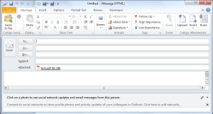 Outlook Message With PDF Attachment
