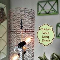 DIY Chicken Wire Lamp Shade