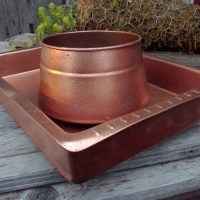 Easy Faux Hammered Copper Paint Technique