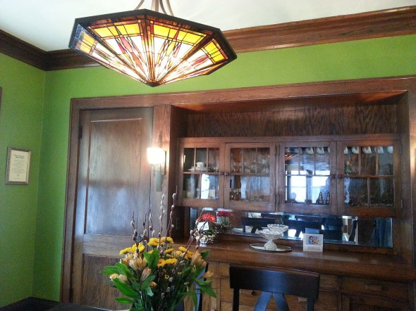 craftsman style dining room