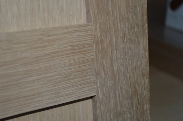 square-sawn white oak cabinet doors