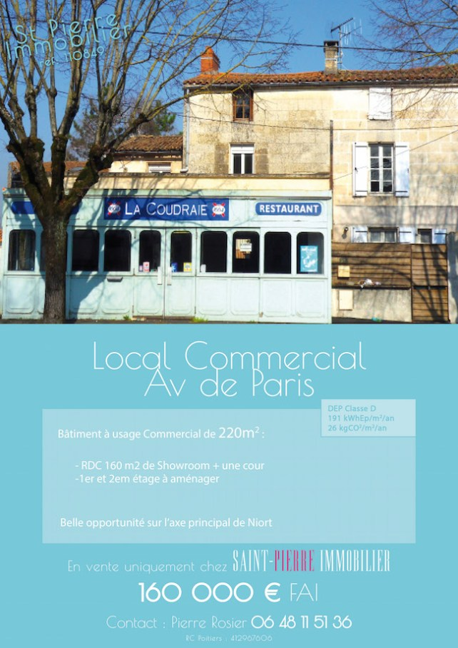 local commercial avenue de paris niort