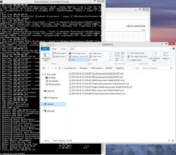 Win8.1 System Assessment Files (cmd process finished in background)