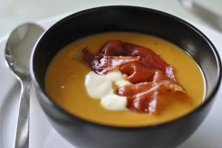Chipotle Sweet Potato Soup with Crème Fraiche - Strawberries For ...