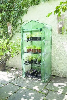 Gardman 08679 4 tier compact growhouse with reinforced  PE cover available from strawberry garden centre uttoxeter