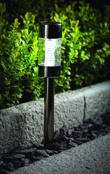 Cole & Bright 18616 Black Nickel Solar Bubble Marker Light available from Strawberry Garden Centre, Uttoxeter
