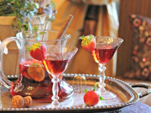 Sparkling Strawberry Sangria by Family Foodie