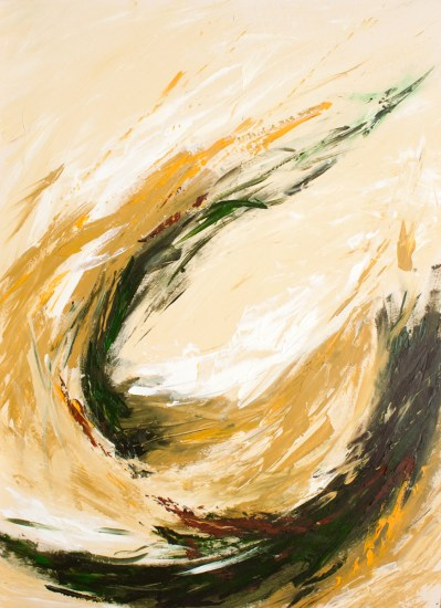 Wheat Grass Abstract Painting- Lisa Strazza