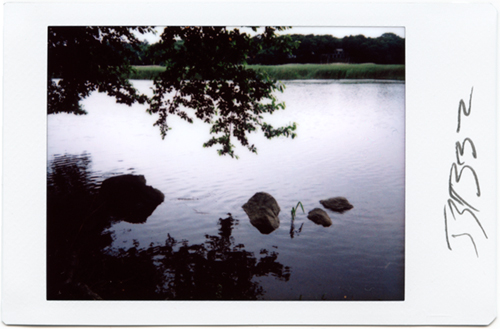 Instant photograph - Old Lyme, Ct. Ct. river- Strazza