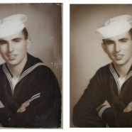 Navy Sailor Portrait Restored