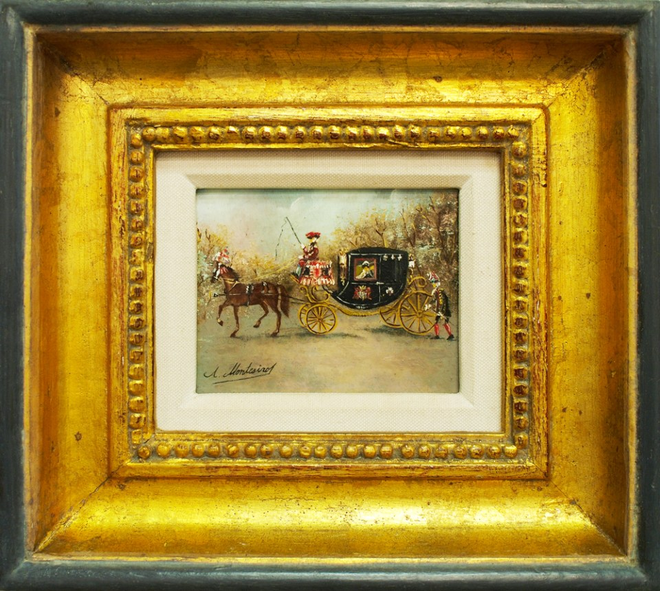 horse and carriage painting restored