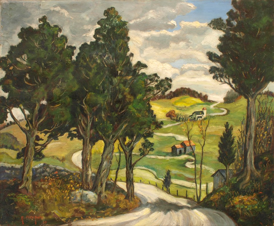 Landscape painting restored