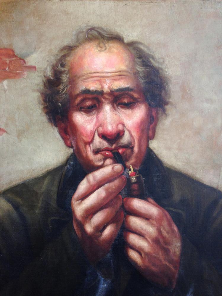 Oil painting Portrait-after restoration