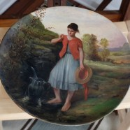 Two wooden plates restored