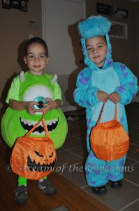 "2013 - Monsters Inc. (Mike Wazowski and ""big blue monster"" Sully)"