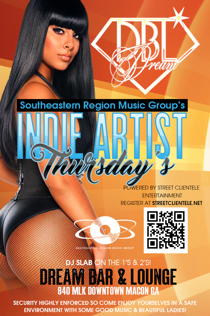 SRMG's Indie Artist Thursday's at Dream (Downtown Macon)