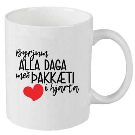 Byrjum alla daga með þakklæti í hjarta