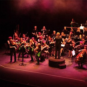 Pumpkin Juice performing with the Newcastle Youth Orchestra 2014