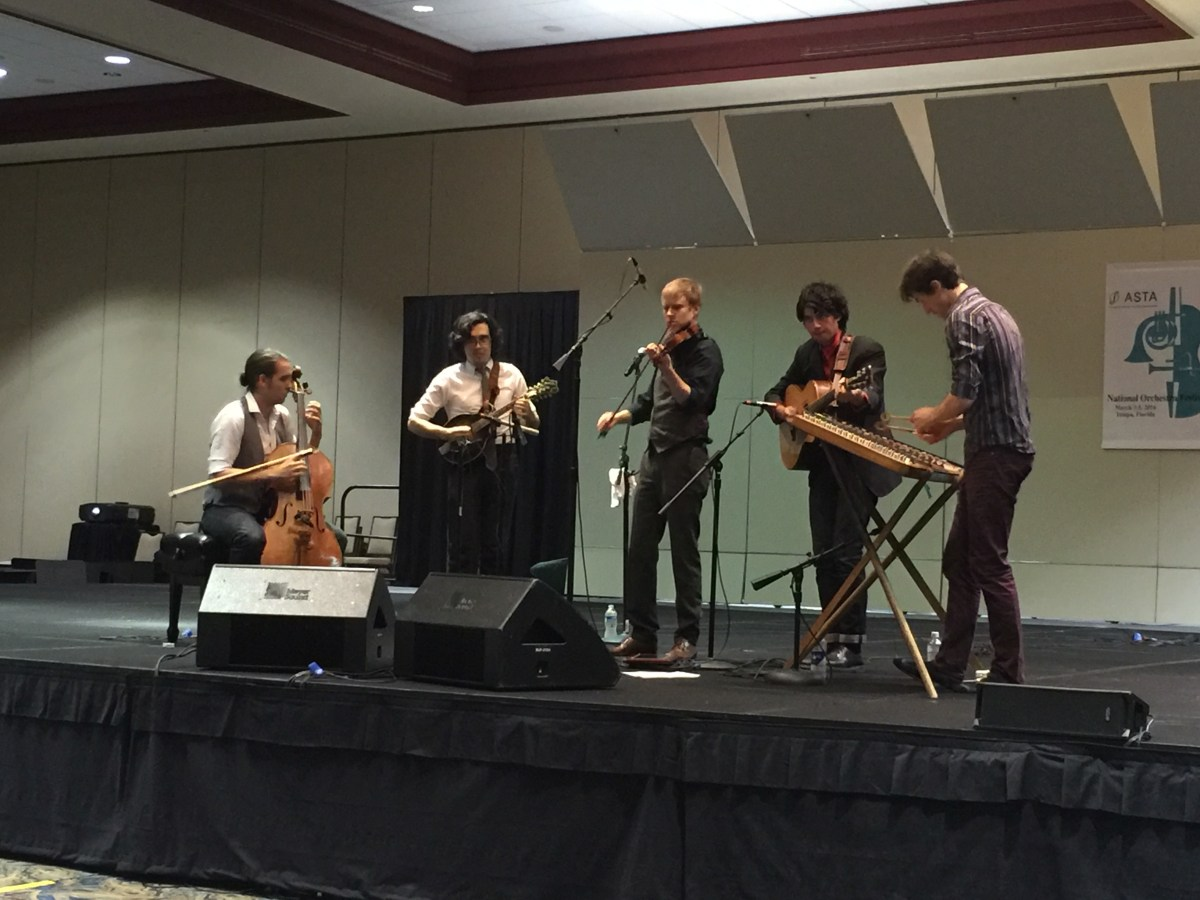 The Jeremy Kittel Band took over the stage in one of the convention center's ballrooms.