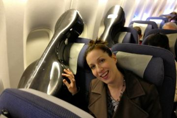 Cello in an airplane