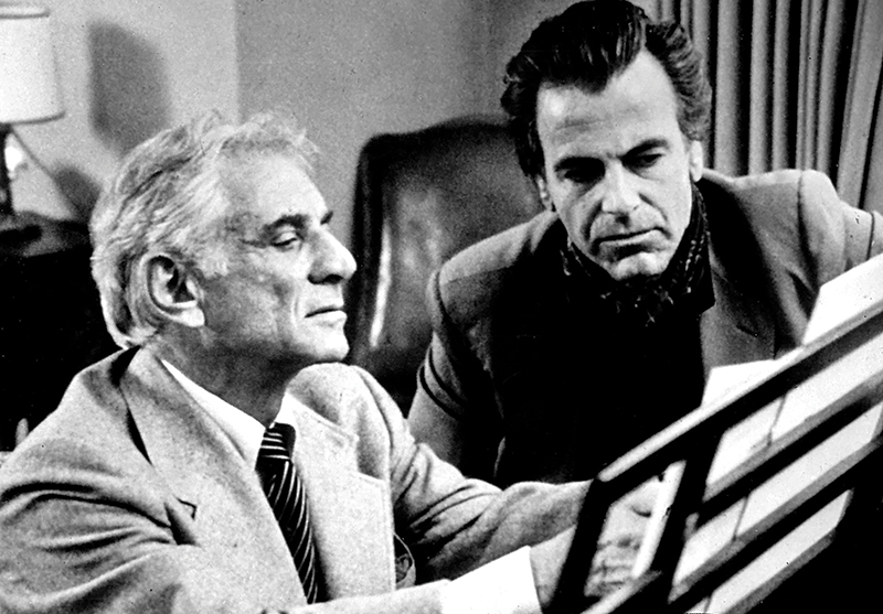 Leonard Bernstein and Maximilian Schell for TV series 'Bernstein/Beethoven'