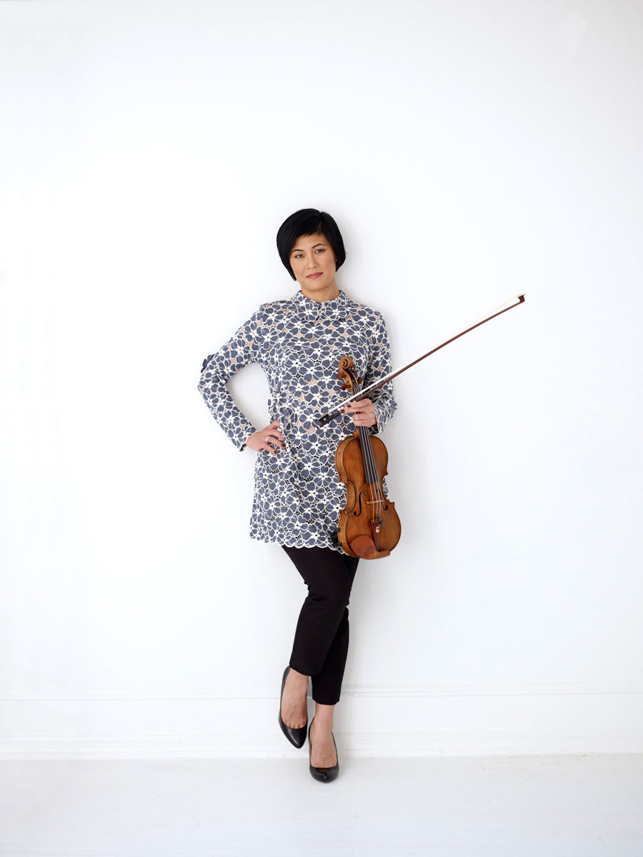 Violinist Jennifer Koh photo by Juergen Frank