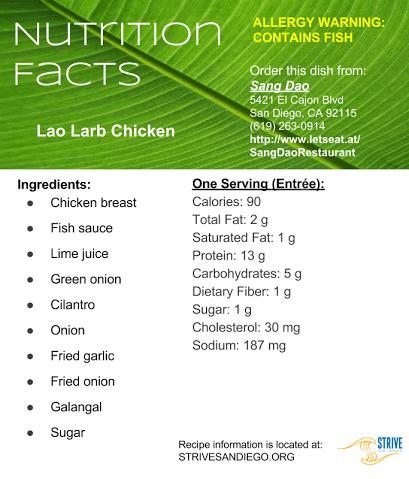 Lao Larb Chicken