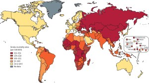 Death rates from stroke across the world