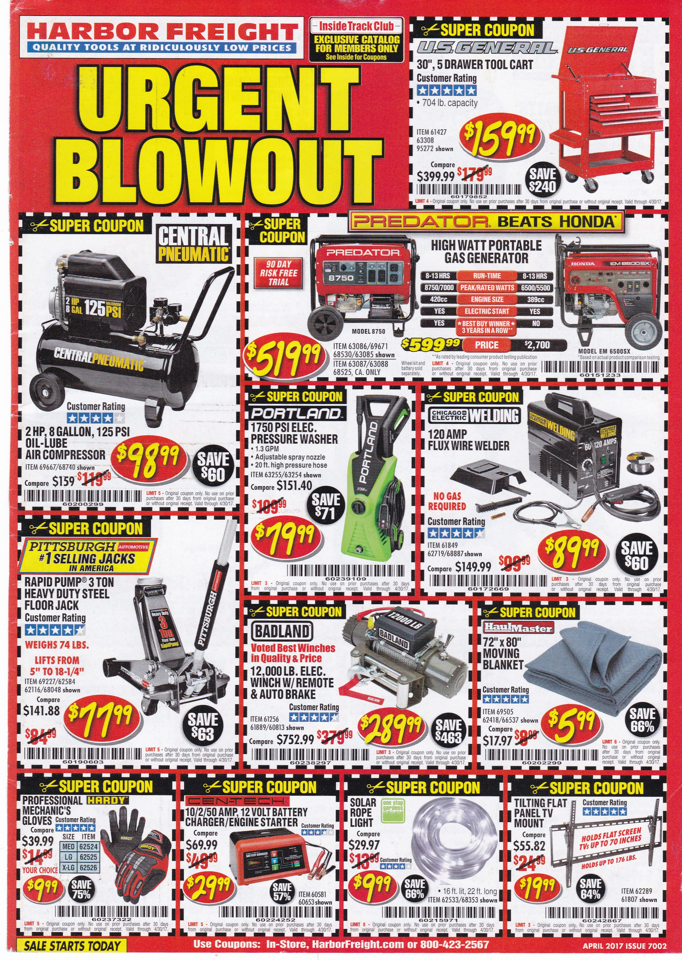 Over 100 Harbor Freight Coupons! Expiring 4/30/17 - Struggleville