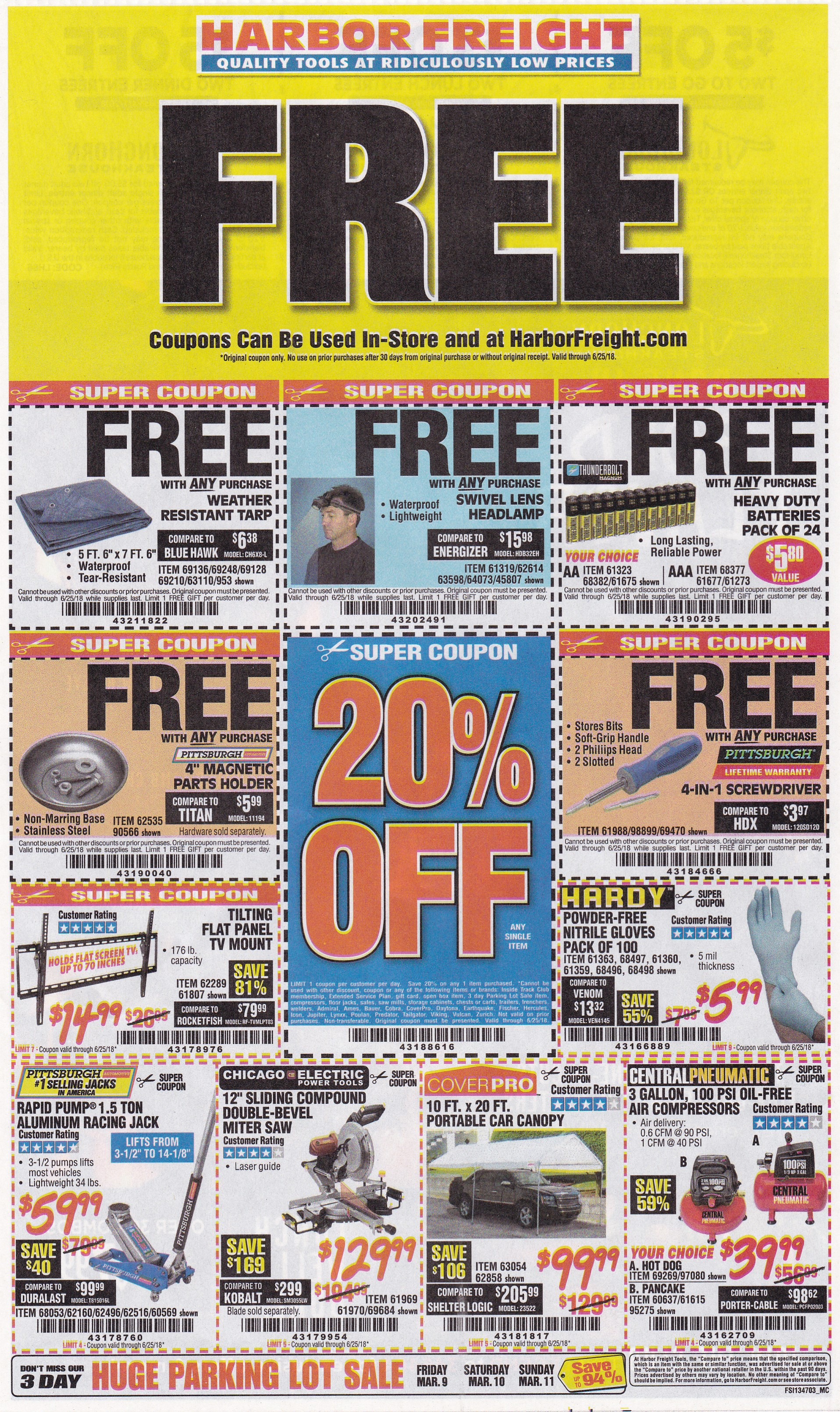 Harbor freight coupons expiring 62518 5 new free item coupons below the barcode for your coupon code when using the coupons in store either print the coupon page or show the cashier the coupon on your smart phone fandeluxe Gallery