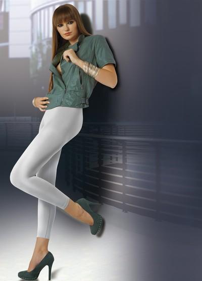 Elegante blickdichte Leggings mit nahtlosem Höschenteil und Satinglanz Arabel