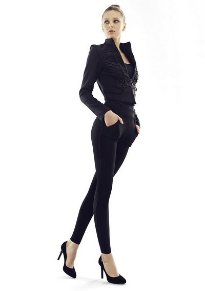 Elegante Leggings mit hohem Anteil an Baumwolle von Marilyn, 180 DEN, schwarz, Gr. S/M