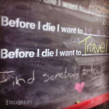 chalkboard travel