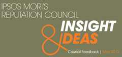 Reputation Council Insight and Ideas May | Ipsos MORI