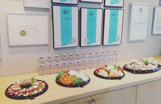 Lunch and Learn: Sliding Doors, Laminate and Metals and LED Lighting presented by Richelieu Hardware. Check out the nice spread we have for lunch too  #lunchnlearn #richelieuhardware #design #architecture #alwayslearning