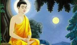 Buddha in Lotus position Bhavana Meditate