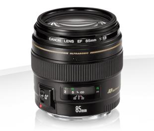 - Canon EF 85mm f/1.8 USM : 25,00€ htva / journée